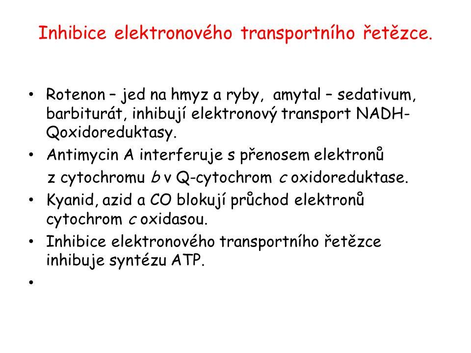 Inhibice elektronového transportního řetězce.