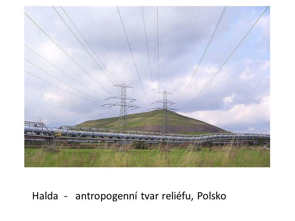 Halda - antropogenní tvar reliéfu, Polsko