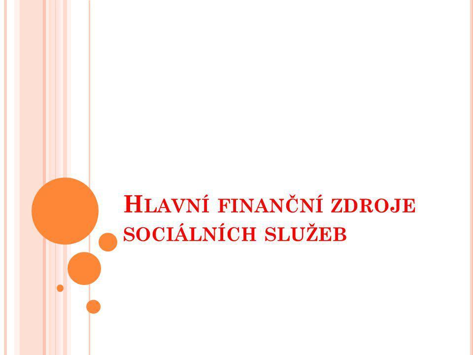 Hlavní finanční zdroje sociálních služeb