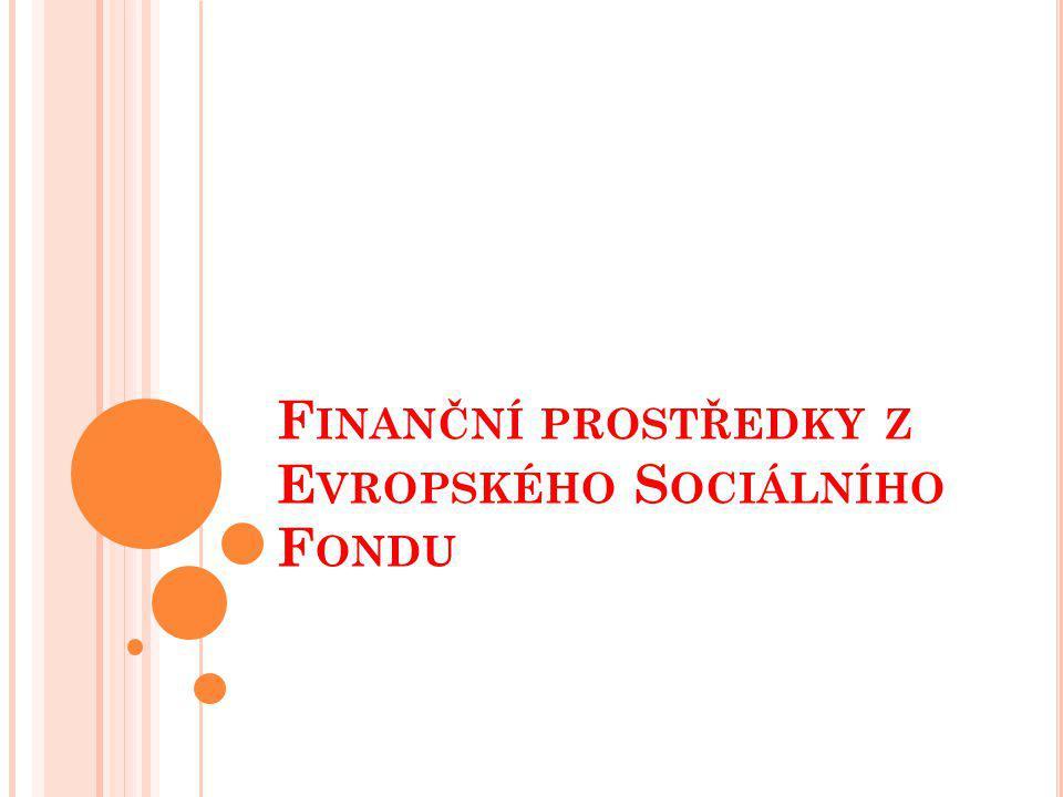 Finanční prostředky z Evropského Sociálního Fondu