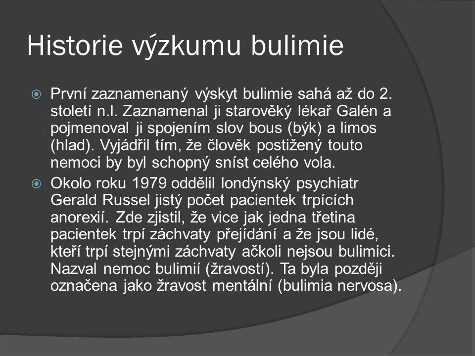 Historie výzkumu bulimie