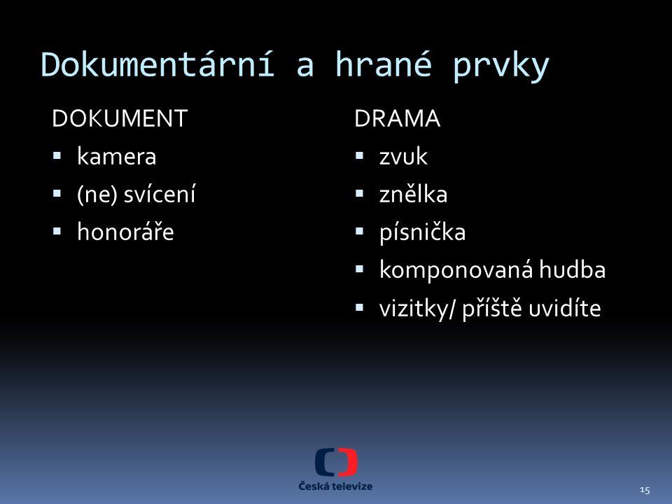 Dokumentární a hrané prvky