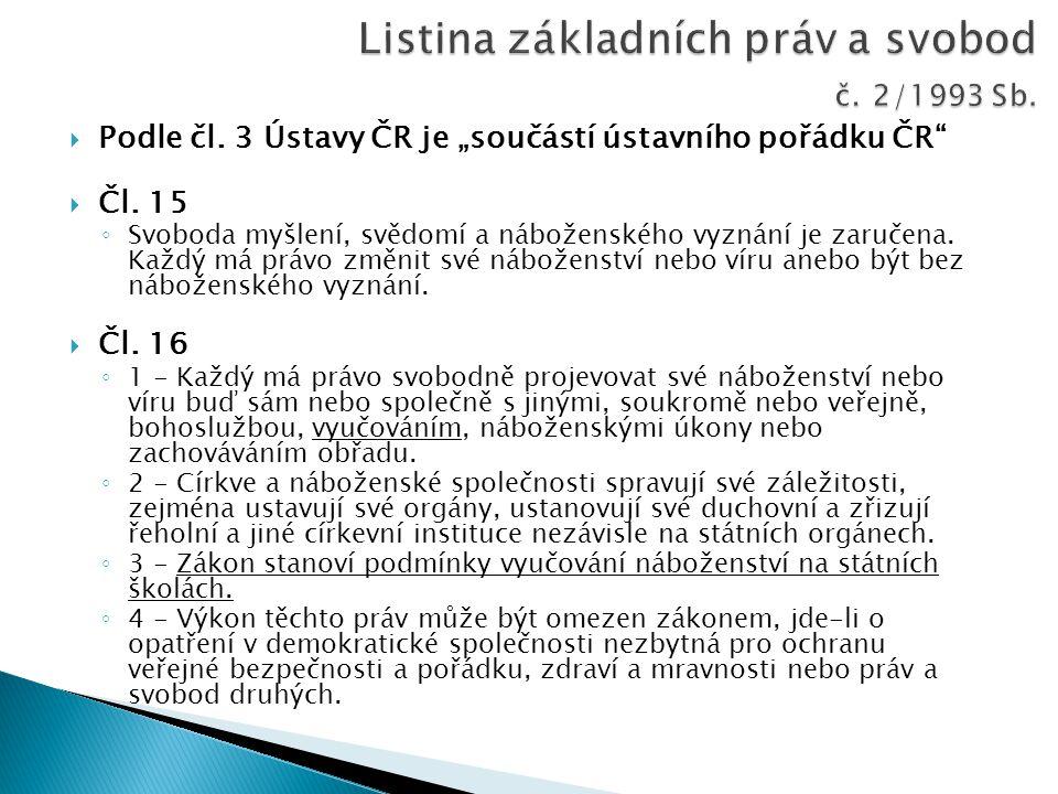Listina základních práv a svobod č. 2/1993 Sb.