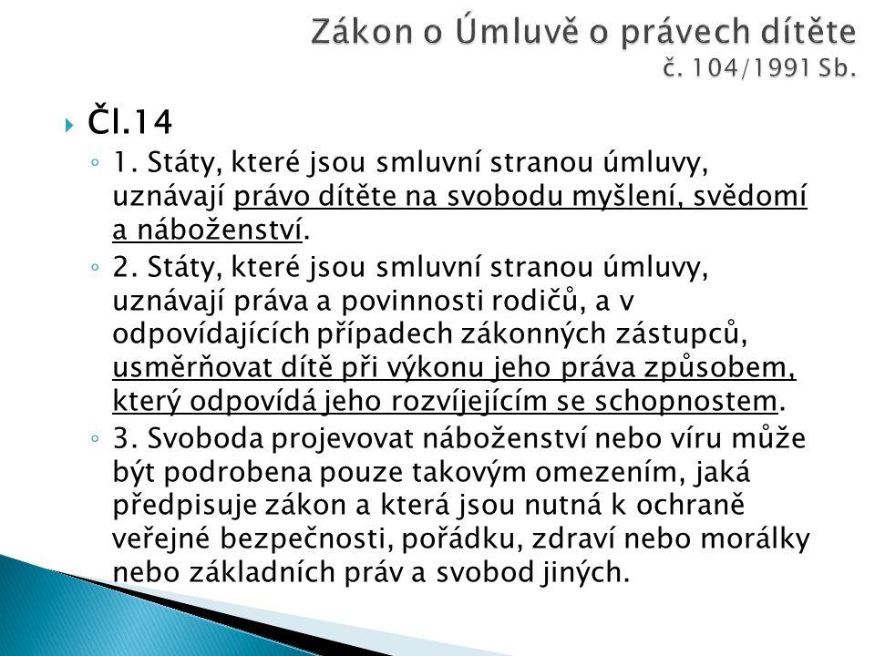 Zákon o Úmluvě o právech dítěte č. 104/1991 Sb.