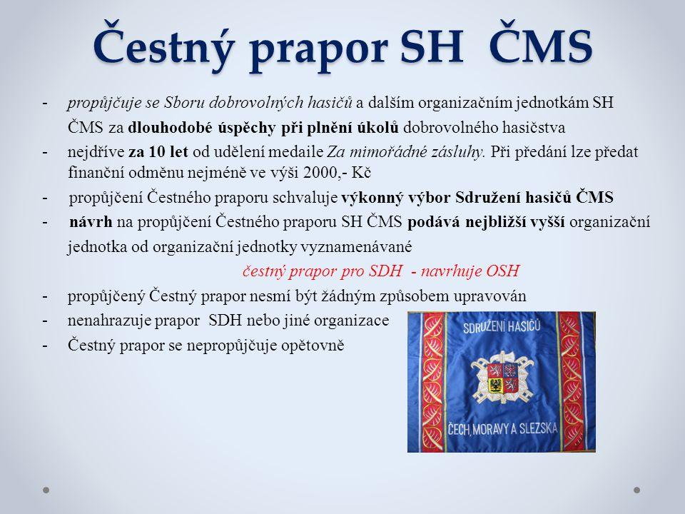 čestný prapor pro SDH - navrhuje OSH