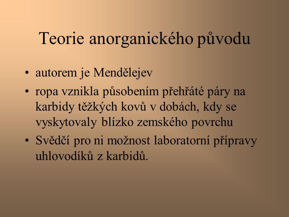 Teorie anorganického původu