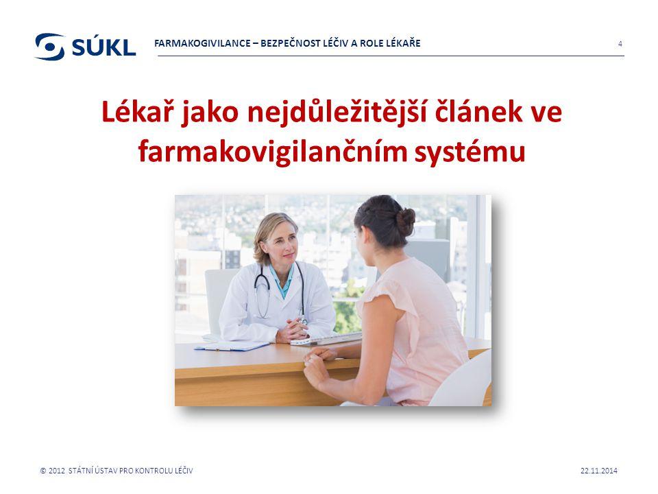 Lékař jako nejdůležitější článek ve farmakovigilančním systému