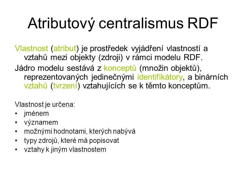 Atributový centralismus RDF