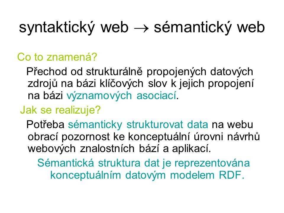 syntaktický web  sémantický web