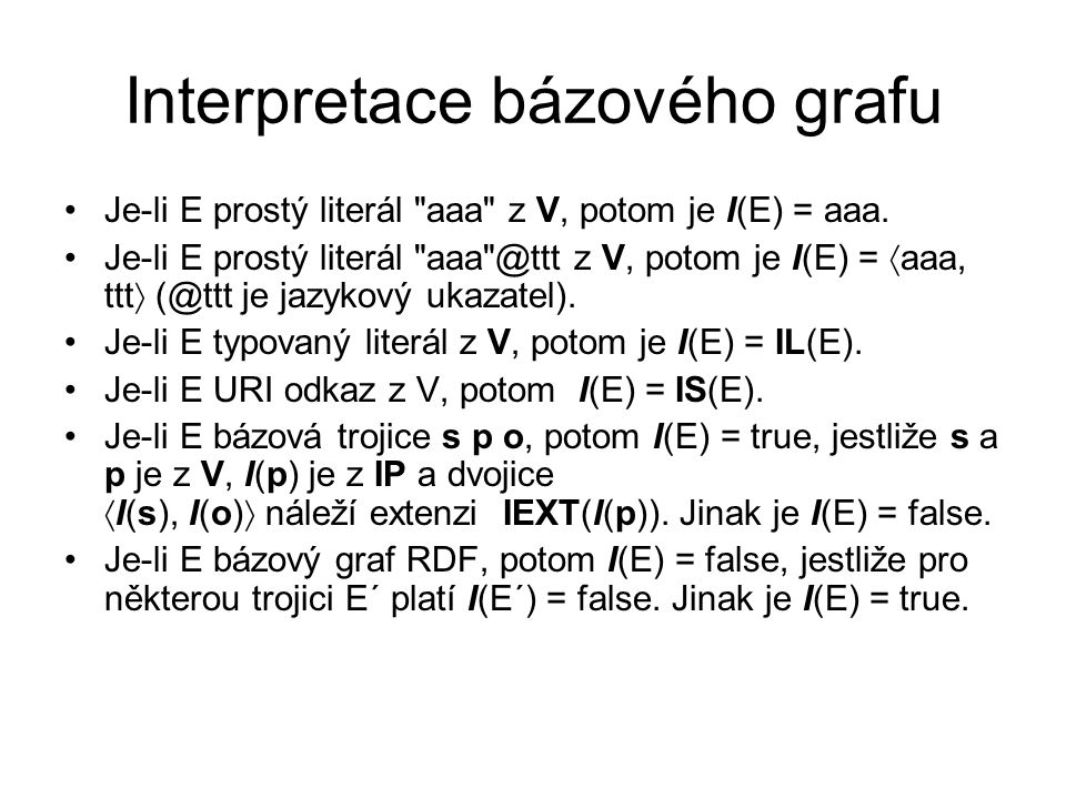 Interpretace bázového grafu