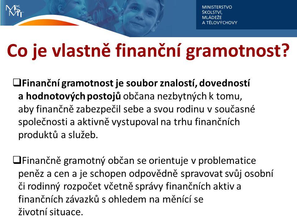 Co je vlastně finanční gramotnost