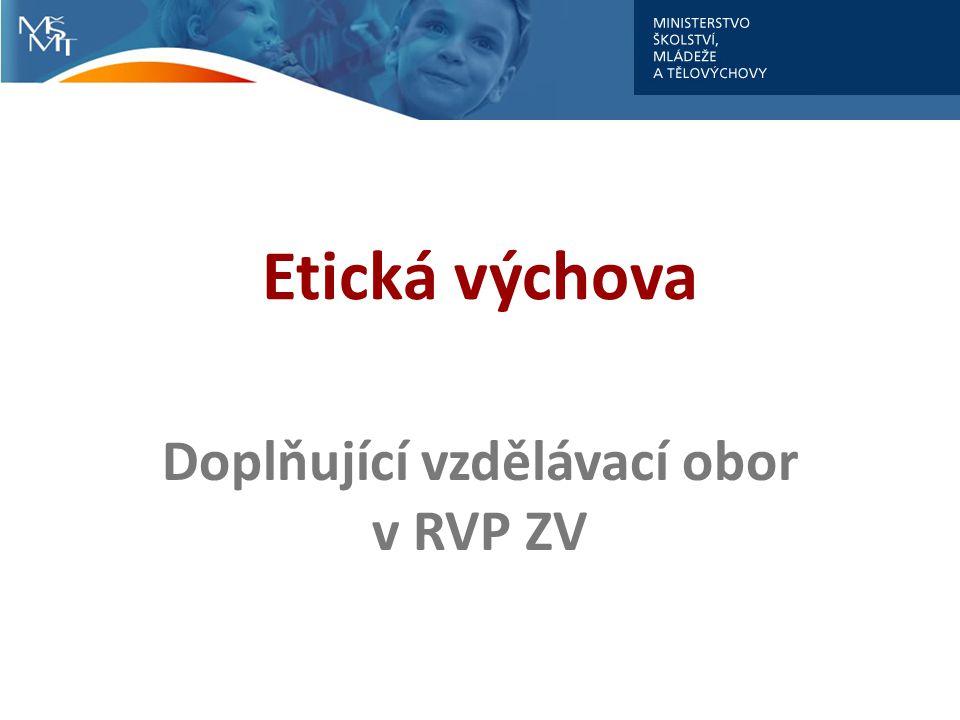 Doplňující vzdělávací obor v RVP ZV