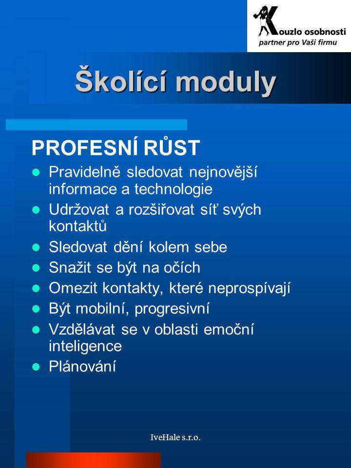 Školící moduly PROFESNÍ RŮST
