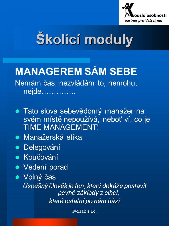 Školící moduly MANAGEREM SÁM SEBE