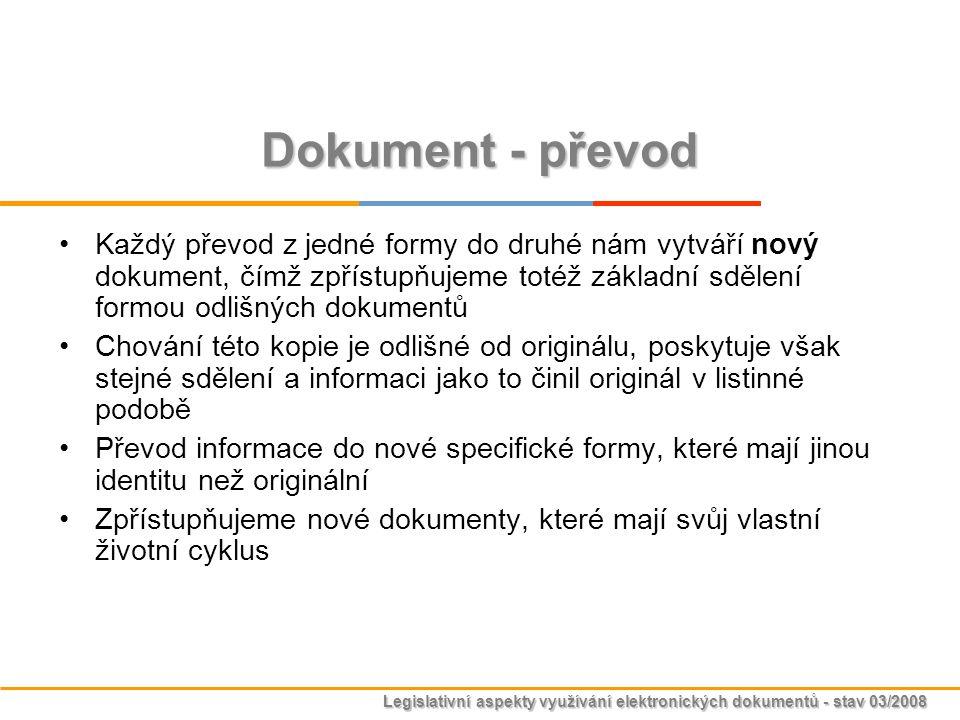 Dokument - převod