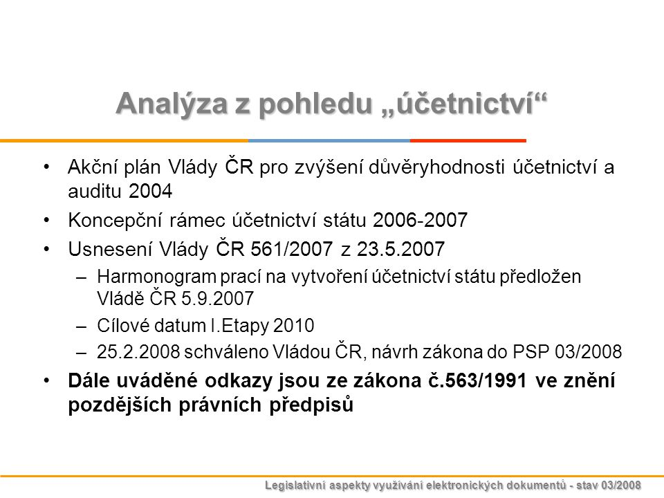 """Analýza z pohledu """"účetnictví"""