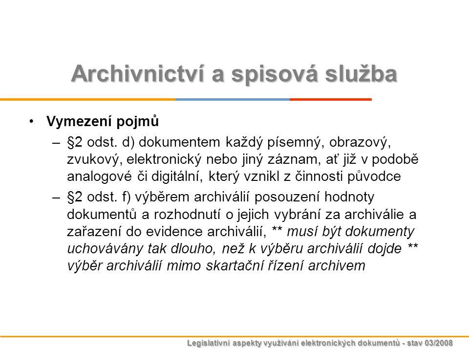 Archivnictví a spisová služba