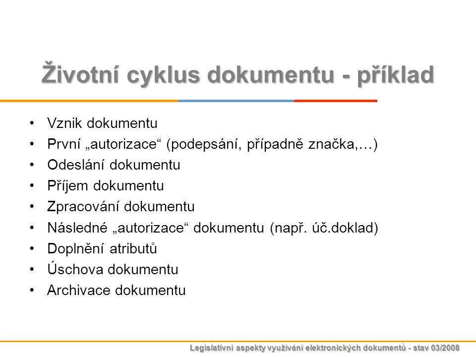 Životní cyklus dokumentu - příklad