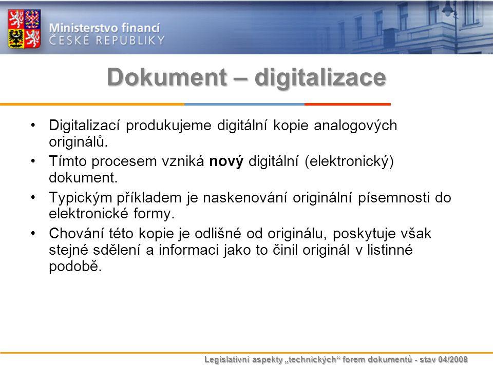 Dokument – digitalizace