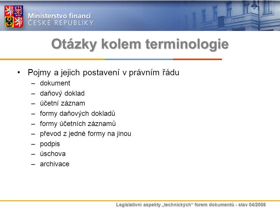 Otázky kolem terminologie