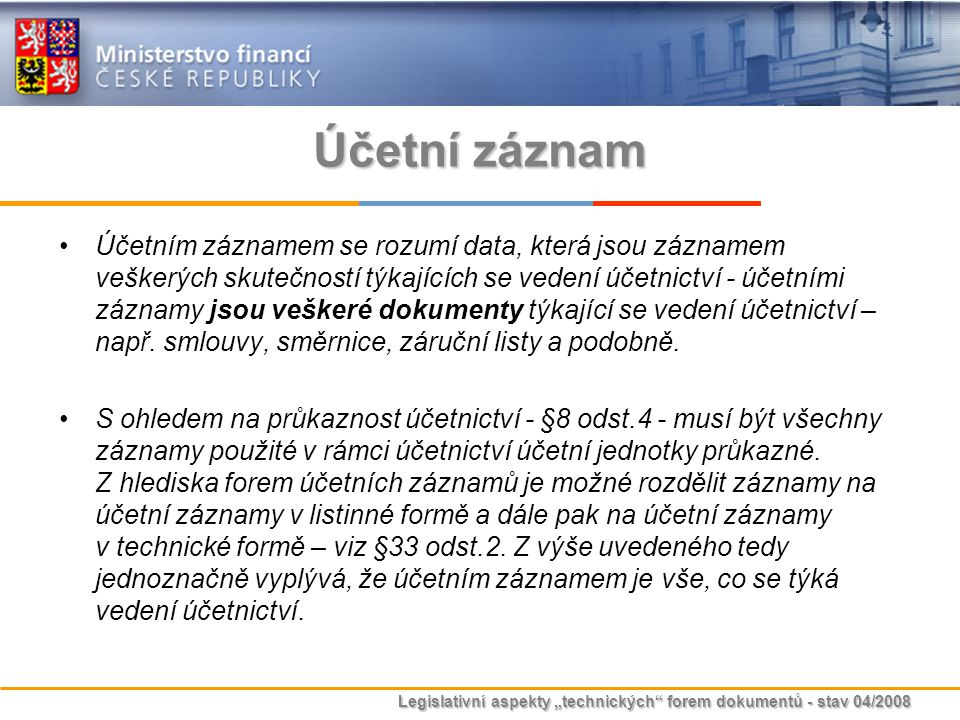 Účetní záznam