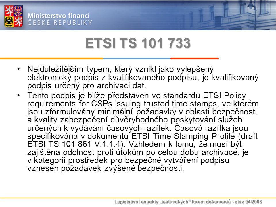 ETSI TS 101 733