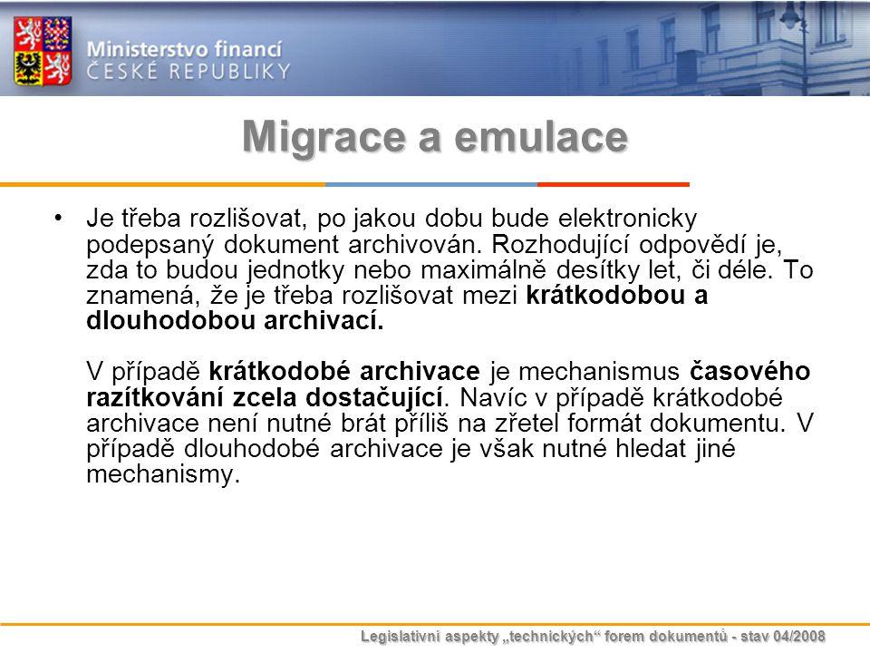 Migrace a emulace