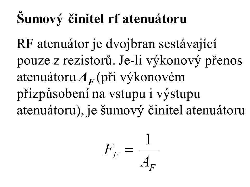 Šumový činitel rf atenuátoru
