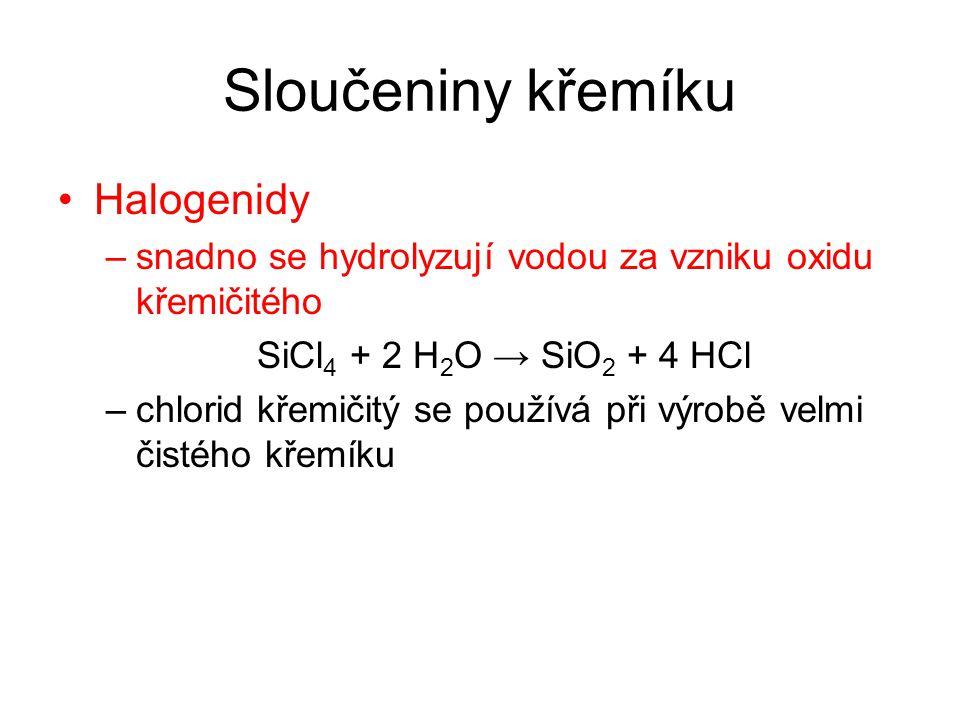Sloučeniny křemíku Halogenidy