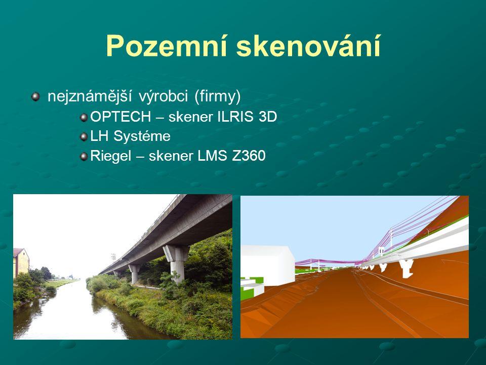 Pozemní skenování nejznámější výrobci (firmy) OPTECH – skener ILRIS 3D