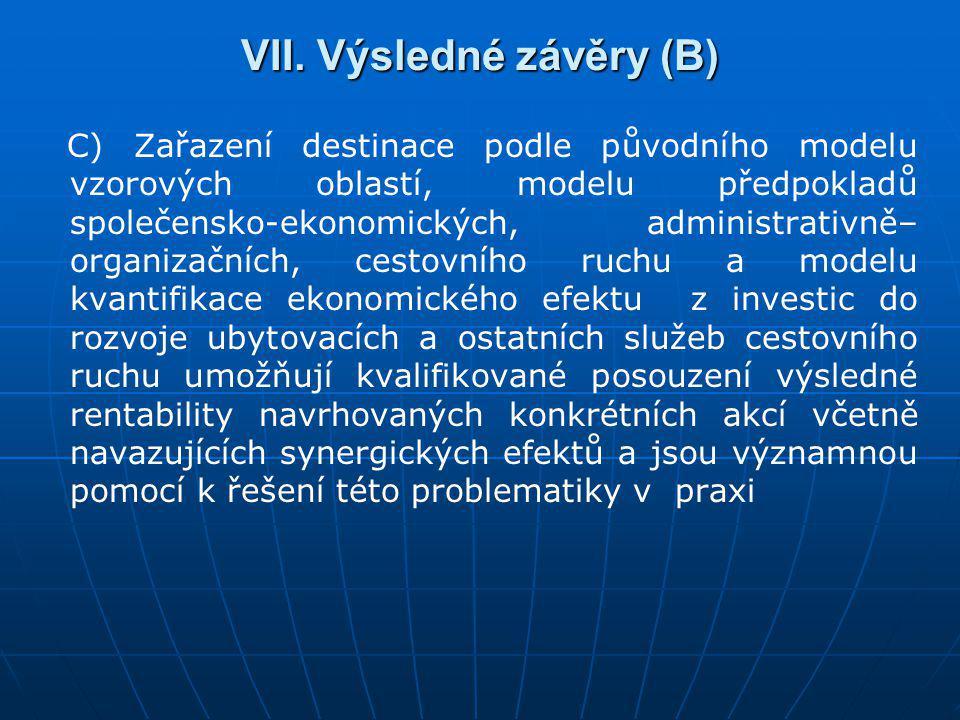 VII. Výsledné závěry (B)