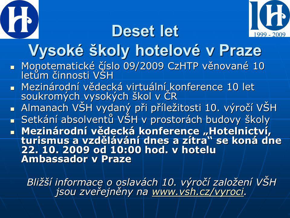 Deset let Vysoké školy hotelové v Praze