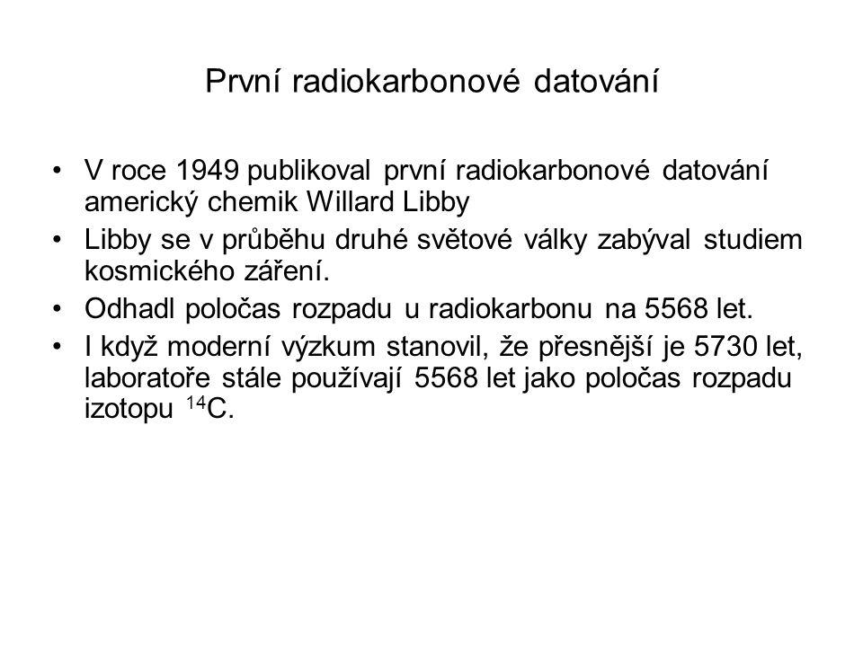 První radiokarbonové datování