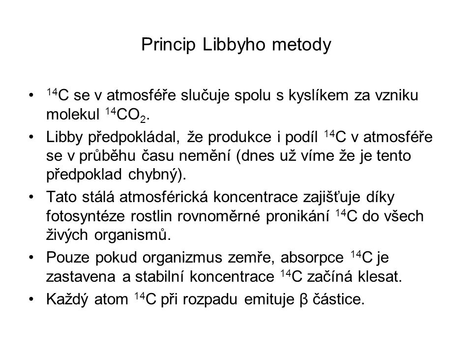 Princip Libbyho metody