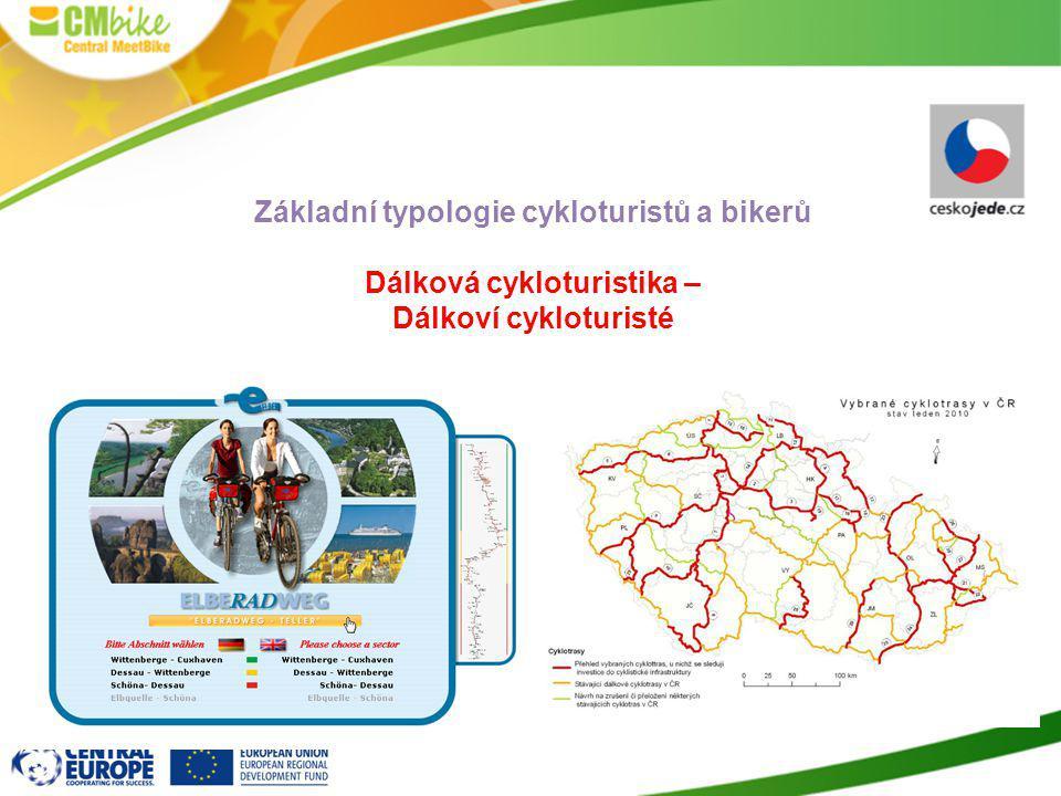Základní typologie cykloturistů a bikerů Dálková cykloturistika –