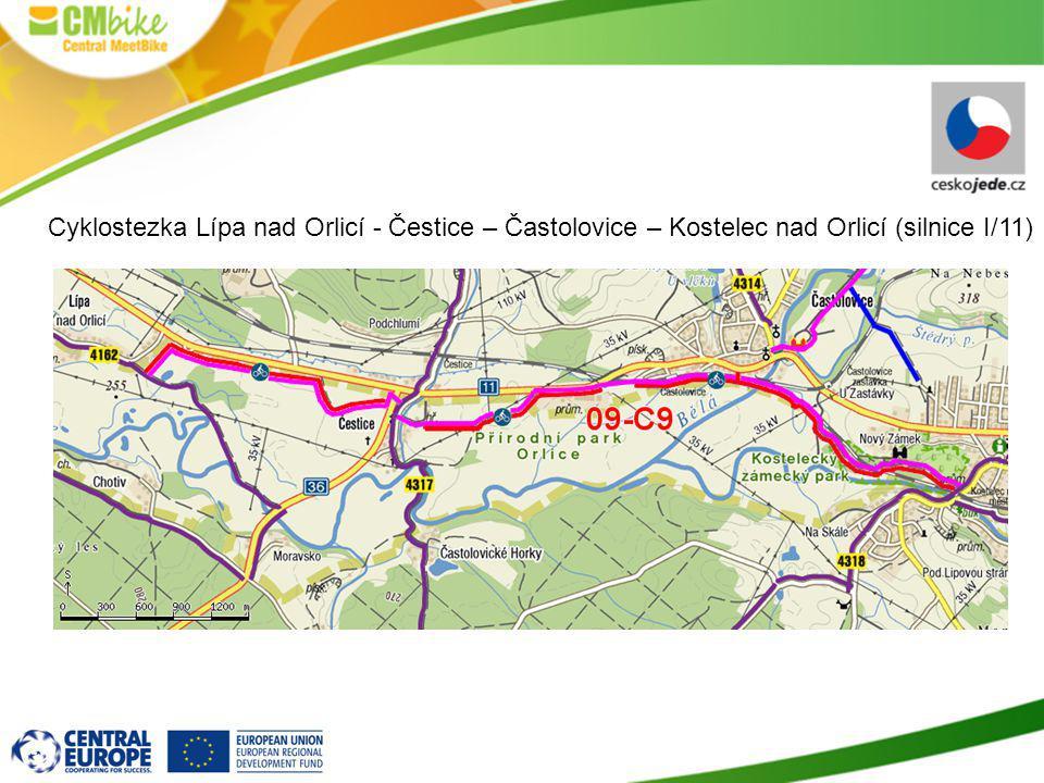 Cyklostezka Lípa nad Orlicí - Čestice – Častolovice – Kostelec nad Orlicí (silnice I/11)