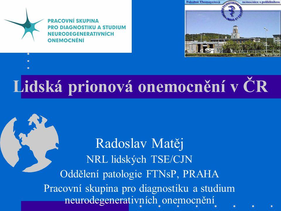 Lidská prionová onemocnění v ČR