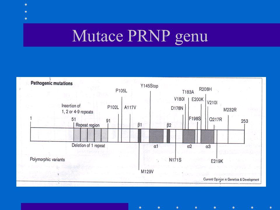 Mutace PRNP genu