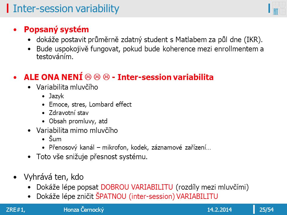 Inter-session variability