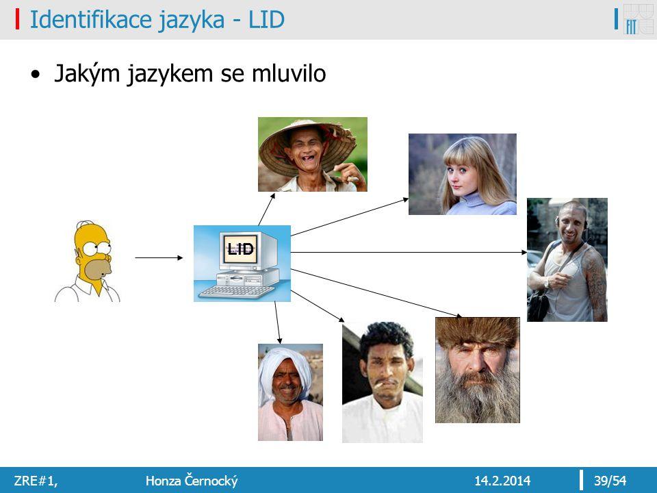 Identifikace jazyka - LID
