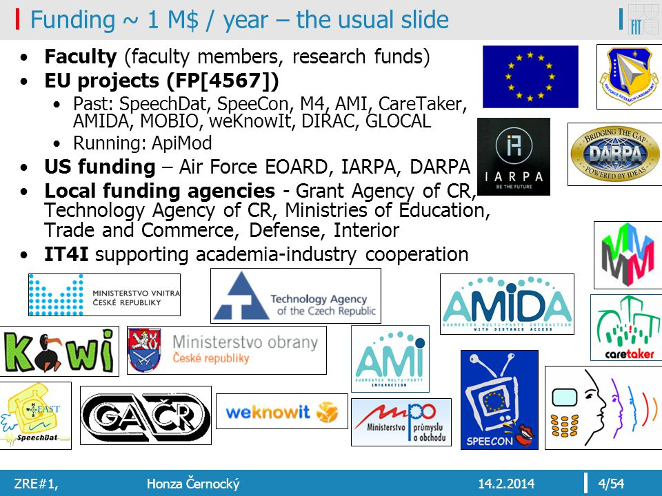 Funding ~ 1 M$ / year – the usual slide