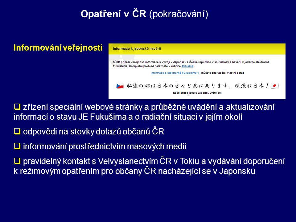 Opatření v ČR (pokračování)