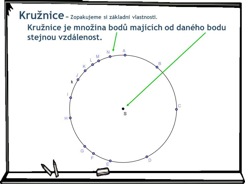 Kružnice − Zopakujeme si základní vlastnosti.