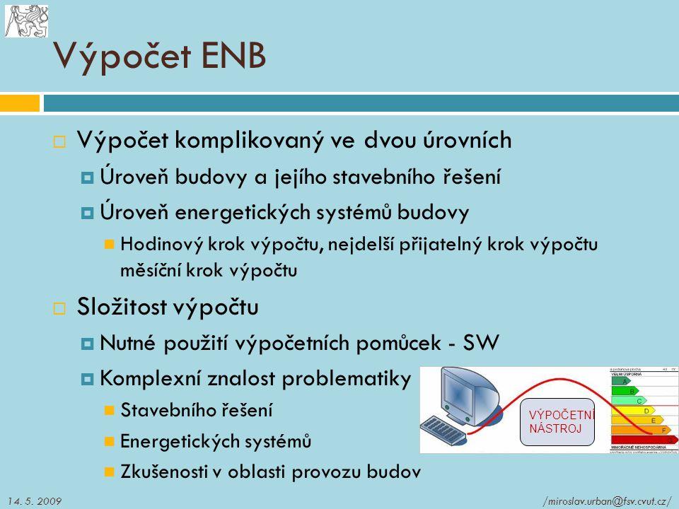 Výpočet ENB Výpočet komplikovaný ve dvou úrovních Složitost výpočtu