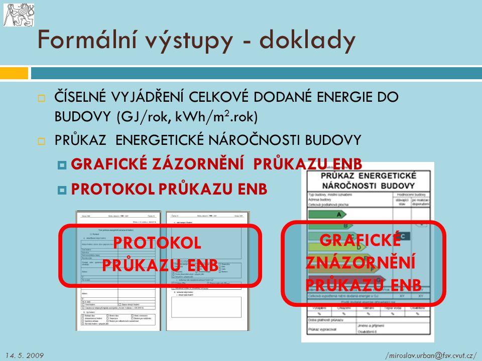 Formální výstupy - doklady