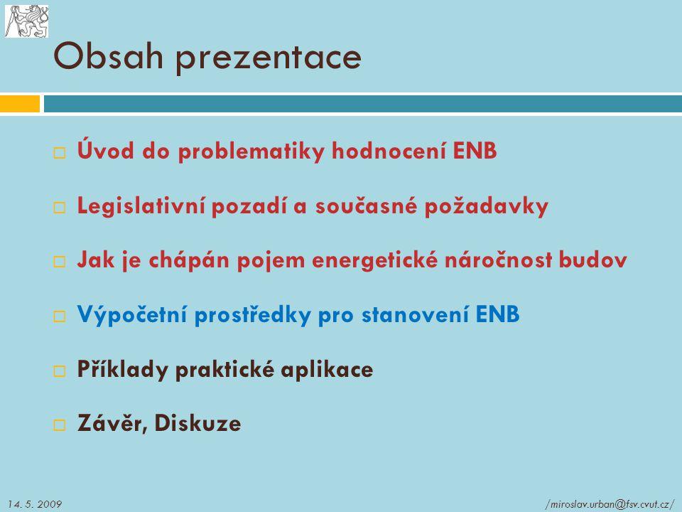 Obsah prezentace Úvod do problematiky hodnocení ENB