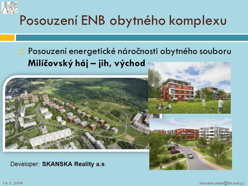 Posouzení ENB obytného komplexu