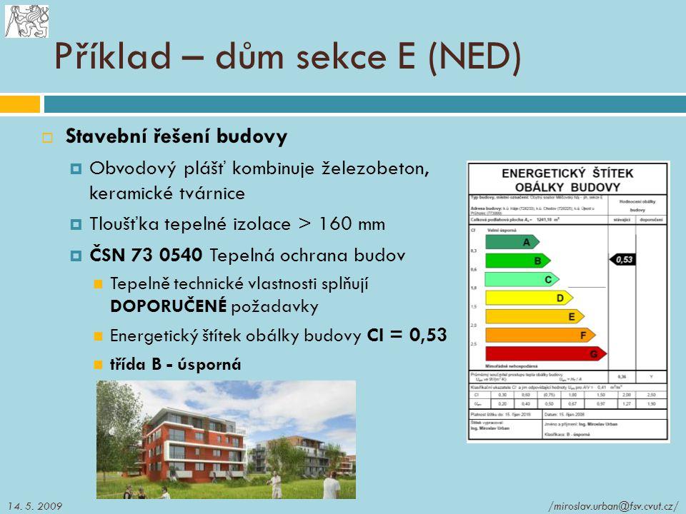 Příklad – dům sekce E (NED)