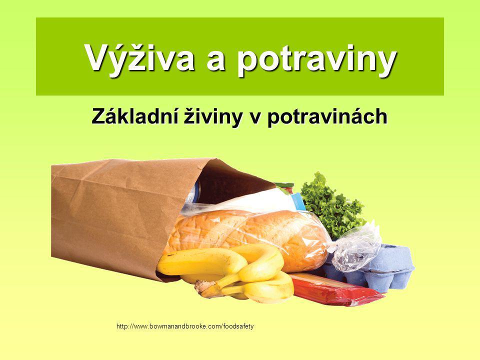 Základní živiny v potravinách