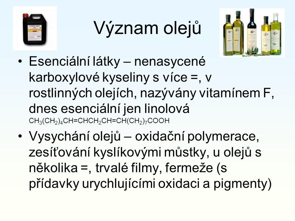 Význam olejů